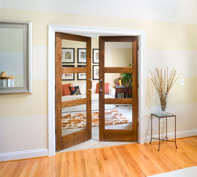 brown bedroom doors